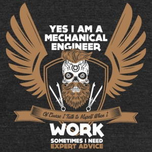 Mechanical Engineer - Yes Iam A Mechanical Engin - Unisex Tri-Blend T-Shirt by American Apparel
