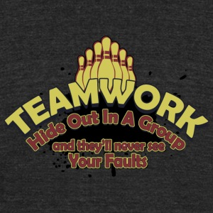 Bowling - Teamwork - Unisex Tri-Blend T-Shirt by American Apparel