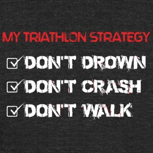 TRIATHLON - MY TRIATHLON STRATEGY - Unisex Tri-Blend T-Shirt by American Apparel