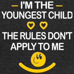 Funny - I'm The Youngest Child The Rules Don't A - Unisex Tri-Blend T-Shirt by American Apparel