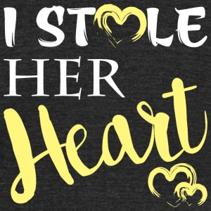 Wife - I Stole Her Heart I'm Stealing His Last N - Unisex Tri-Blend T-Shirt by American Apparel
