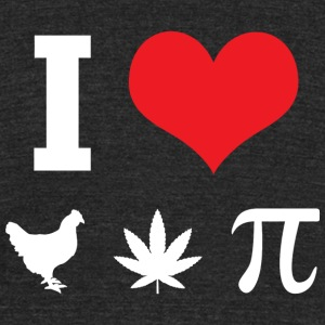 Pi - I Love Chicken Pot Pi - Unisex Tri-Blend T-Shirt by American Apparel