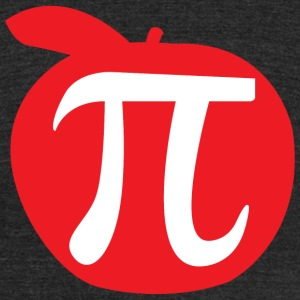 Pi - Apple Pi - Unisex Tri-Blend T-Shirt by American Apparel