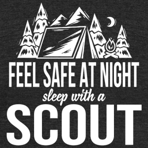 Scout - Feel safe at night sleep with a scout - Unisex Tri-Blend T-Shirt by American Apparel