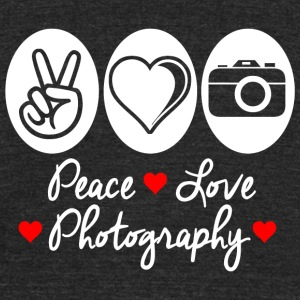 PHOTOGRAPHY - PEACE LOVE PHOTOGRAPHY - Unisex Tri-Blend T-Shirt by American Apparel