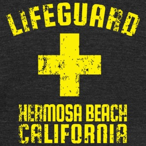 Hermosa Beach - Certified Lifeguard Hermosa Beac - Unisex Tri-Blend T-Shirt by American Apparel