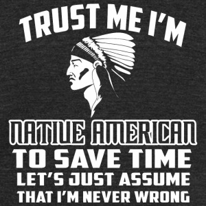 Native american - Native Americans' Day Tshirt T - Unisex Tri-Blend T-Shirt by American Apparel