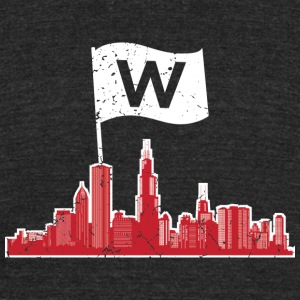Chicago fly the W flag T - shirt - Unisex Tri-Blend T-Shirt by American Apparel