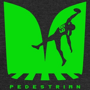 Pedestrian T-shirt - Like a rugby player - Unisex Tri-Blend T-Shirt by American Apparel