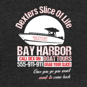 Bay harbor - Once you go you won't want to be ba - Unisex Tri-Blend T-Shirt by American Apparel