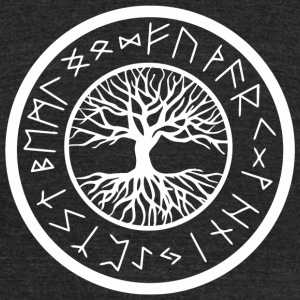 Viking - Yggdrasil Tree of Life with Norse Rune - Unisex Tri-Blend T-Shirt by American Apparel