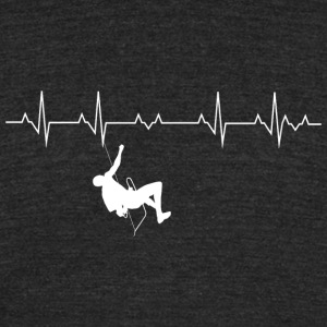 Climbing - Rock Climbing Heartbeat - Unisex Tri-Blend T-Shirt by American Apparel