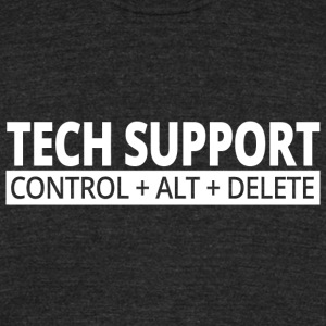 TECH SUPPORT - TECH SUPPORT Control+Alt+Delete - Unisex Tri-Blend T-Shirt by American Apparel