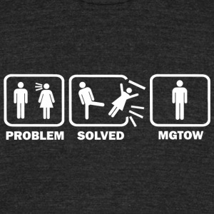 MGTOW - Problem Solved MGTOW - Unisex Tri-Blend T-Shirt by American Apparel