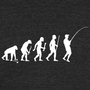 Fishing - Evolution of Man and Fishing - Unisex Tri-Blend T-Shirt by American Apparel