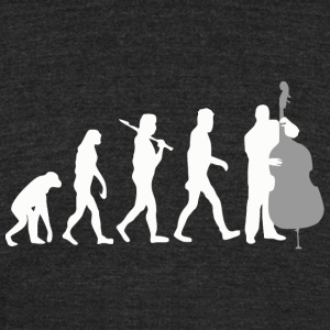 Double bass - Double Bass Player Evolution Funny - Unisex Tri-Blend T-Shirt by American Apparel