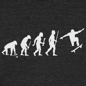 Skateboarding - Evolution of Man and Skateboardi - Unisex Tri-Blend T-Shirt by American Apparel
