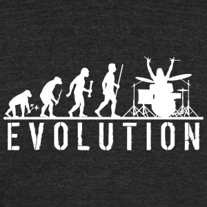 Drum - Evolution of Man and Drums - Unisex Tri-Blend T-Shirt by American Apparel
