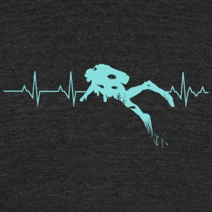 Scuba Diving - Scuba Diving Heart Beat - Best Gi - Unisex Tri-Blend T-Shirt by American Apparel
