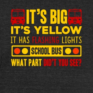 SCHOOL BUS DRIVER SHIRT - Unisex Tri-Blend T-Shirt by American Apparel