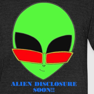Condpiracy Theory Dave The Cat Alien Head Green - Unisex Tri-Blend T-Shirt by American Apparel