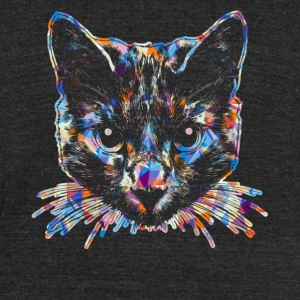 Russian Blue Cat Tee Shirt - Unisex Tri-Blend T-Shirt by American Apparel