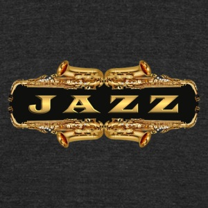 gold jazz - Unisex Tri-Blend T-Shirt by American Apparel