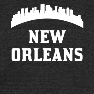 Vintage Style Skyline Of New Orleans LA - Unisex Tri-Blend T-Shirt by American Apparel