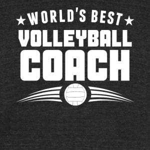 World's Best Volleyball Coach - Unisex Tri-Blend T-Shirt by American Apparel