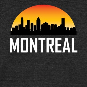 Sunset Skyline Silhouette of Montreal QC - Unisex Tri-Blend T-Shirt by American Apparel