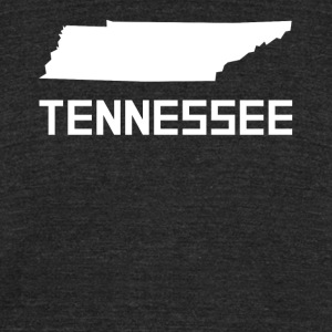 Tennessee State Silhouette - Unisex Tri-Blend T-Shirt by American Apparel