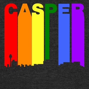 Casper Wyoming Gay Pride Rainbow Skyline - Unisex Tri-Blend T-Shirt by American Apparel