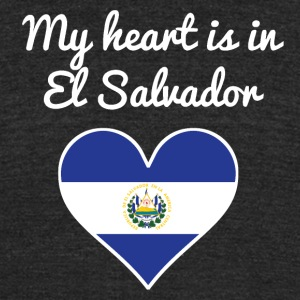 My Heart Is In El Salvador - Unisex Tri-Blend T-Shirt by American Apparel
