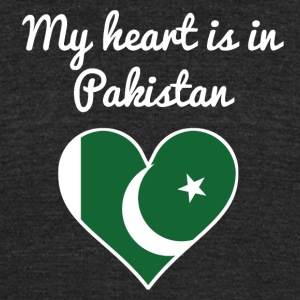 My Heart Is In Pakistan - Unisex Tri-Blend T-Shirt by American Apparel