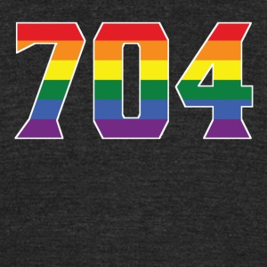 Gay Pride 704 Charlotte Area Code - Unisex Tri-Blend T-Shirt by American Apparel