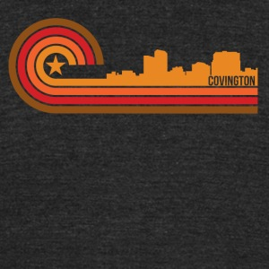 Retro Style Covington Kentucky Skyline - Unisex Tri-Blend T-Shirt by American Apparel