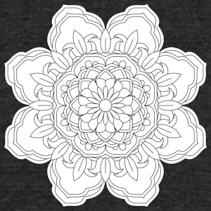 Mandala design element round ornament - Unisex Tri-Blend T-Shirt by American Apparel