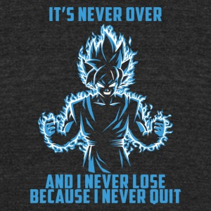 super saiyan goku - it's never over - Unisex Tri-Blend T-Shirt by American Apparel