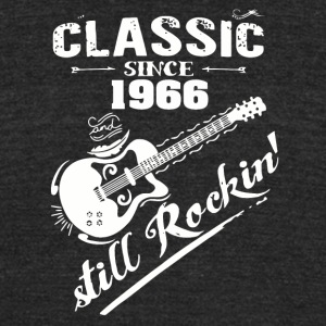 Classic Since 1966 and still Rokin - Unisex Tri-Blend T-Shirt by American Apparel