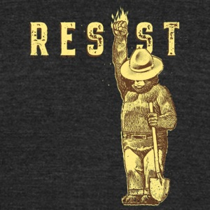 resist smokey - Unisex Tri-Blend T-Shirt by American Apparel