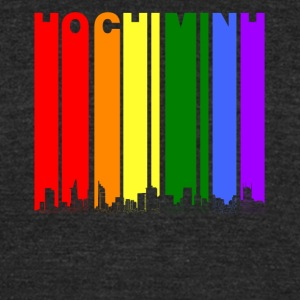 Ho Chi Minh Skyline Rainbow LGBT Gay Pride - Unisex Tri-Blend T-Shirt by American Apparel