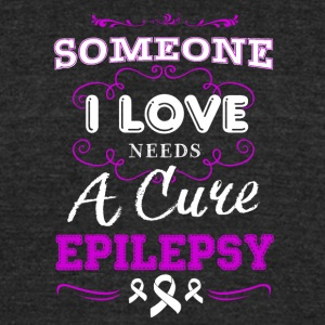 Needs A Cure Epilepsy Shirt - Unisex Tri-Blend T-Shirt by American Apparel