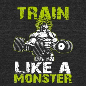Legendary Broly Train Like A Monster T-Shirt - Unisex Tri-Blend T-Shirt by American Apparel