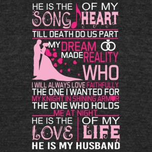 My Husband He Is The Love Of My Life T Shirt - Unisex Tri-Blend T-Shirt by American Apparel
