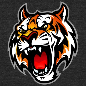 angry_tiger - Unisex Tri-Blend T-Shirt by American Apparel