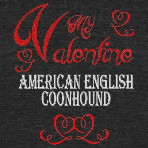 A romantic Valentine with my American English Coon - Unisex Tri-Blend T-Shirt by American Apparel