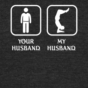 Husband Yoga Love- cool shirt,geek hoodie,tank - Unisex Tri-Blend T-Shirt by American Apparel