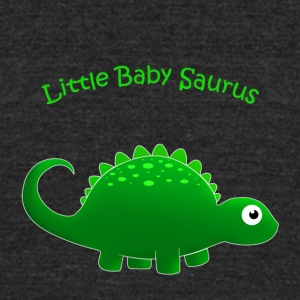 Green Little Baby Saurus - Unisex Tri-Blend T-Shirt by American Apparel