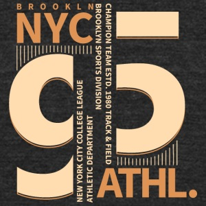 New York Brooklin sport division T Shirt vector - Unisex Tri-Blend T-Shirt by American Apparel