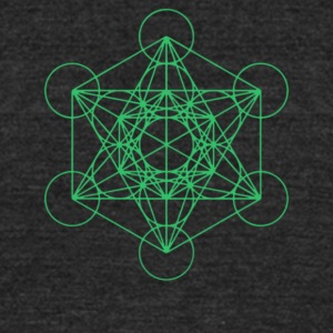 Metatron's Cube - Unisex Tri-Blend T-Shirt by American Apparel